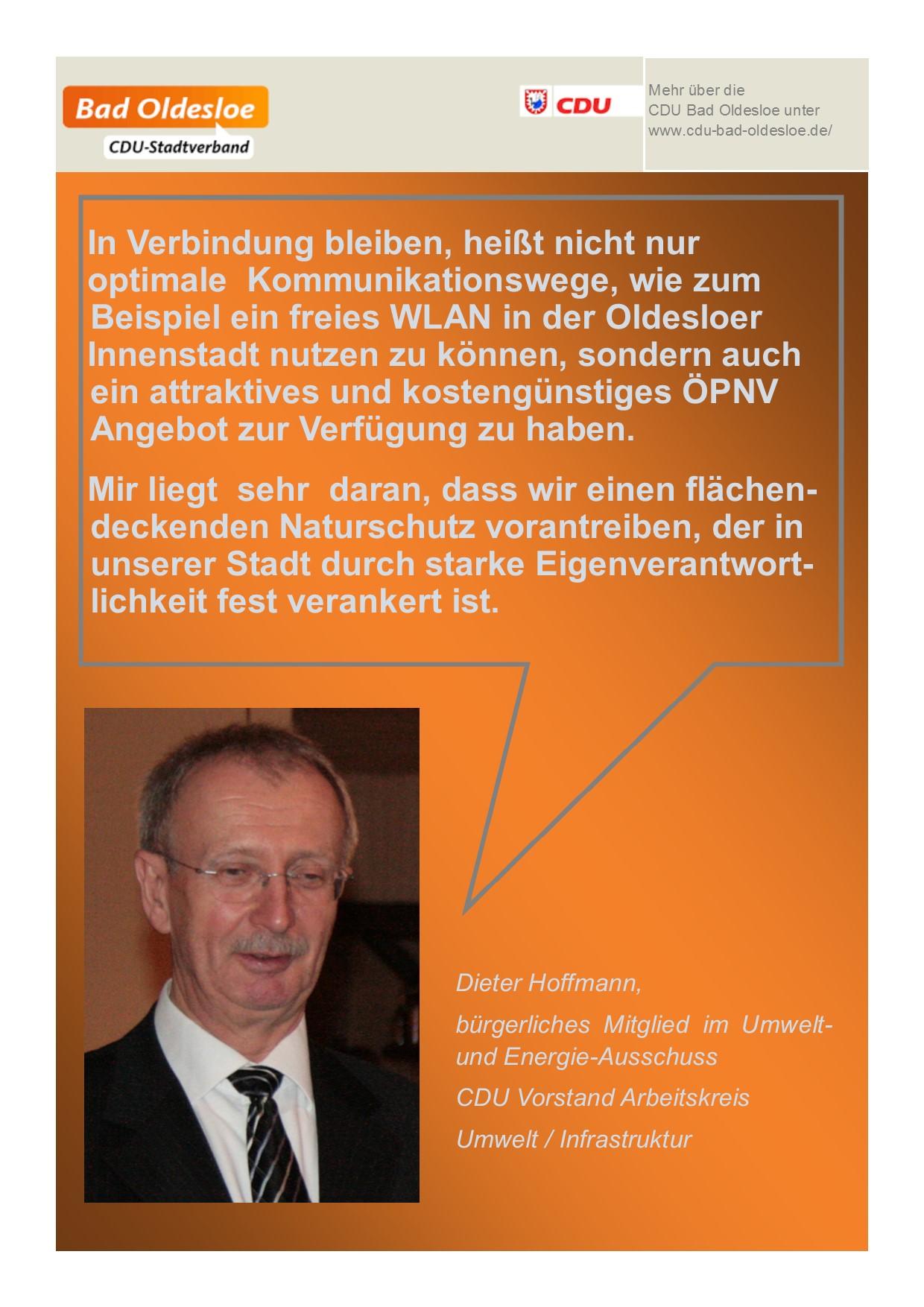 Cdu stadtverband bad oldesloe for Dieter hoffmann